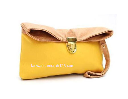 Clutch Murah Colorful Kuning