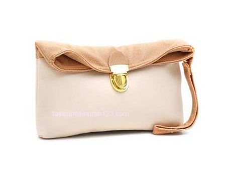 Clutch Murah Colorful Krem