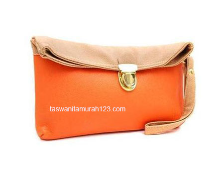 Clutch Murah Colorful Orange