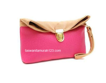 Clutch Murah Colorful Pink