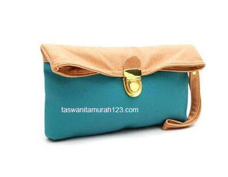 Clutch Murah Colorful Toska