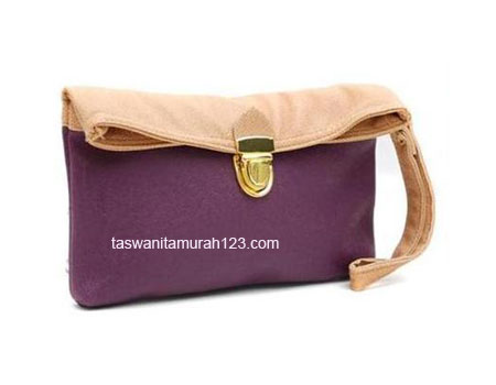 Clutch Murah Colorful Ungu