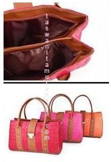Tas Wanita Murah Anyam Besar Pink