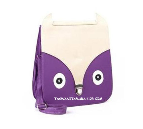 Tas Wanita Murah Face Rectangle Ungu