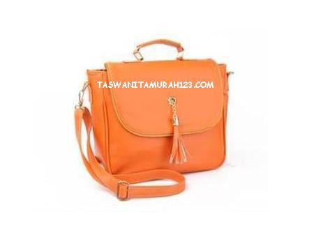 Tas Wanita Murah Kantor Tassel Orange