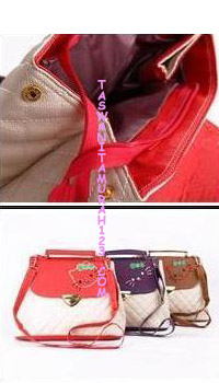 Tas Wanita Kitten Satchel Sleeve  Merah