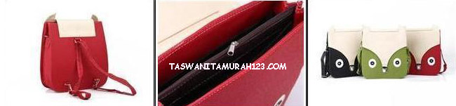 Tas Wanita Murah Face Rectangle Merah