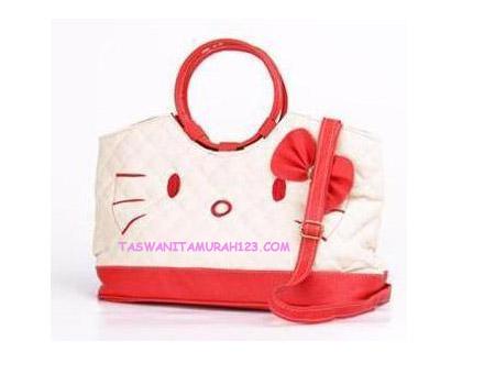 Tas Wanita Murah Kitten Round Merah