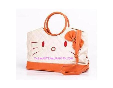 Tas Wanita Murah Kitten Round Orange