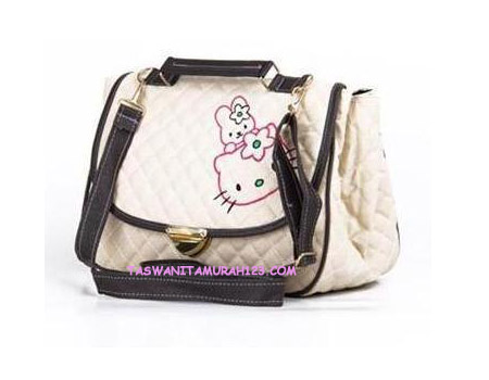 Tas Wanita Murah Kitten Satchel List Coklat Coffee