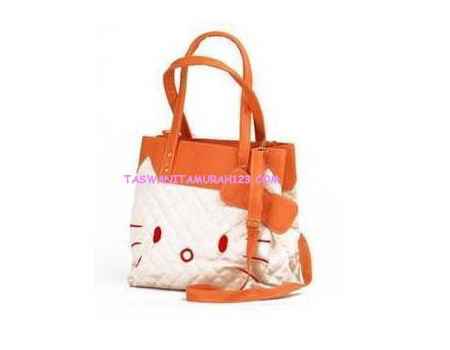 Tas Wanita Murah Kitten Tote Warna Orange