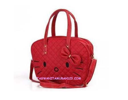Tas Wanita Murah Kitten Face Merah