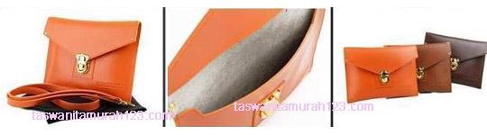 Tas Wanita Clutch Big Envelope VIROLITA Orange