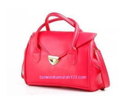 Tas Wanita Murah Satchel Klip Warna Hot Pink