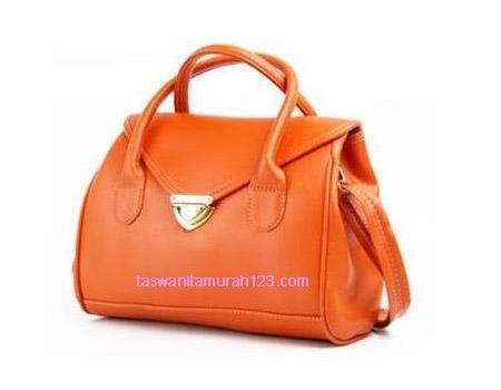 Tas Wanita Murah Satchel Klip Orange