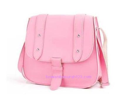 Tas Wanita Murah ZR Satchel Sling Soft Pink