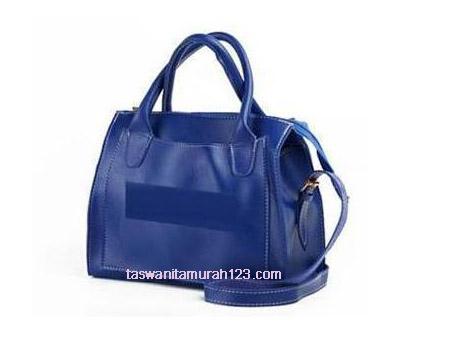 Tas Wanita Murah ZR Tote Front Pocket  Biru Tua