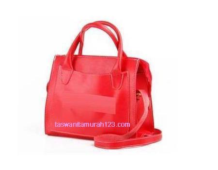 Tas Wanita Murah ZR Tote Front Pocket Merah