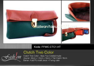 Clutch Murah Two Color HijauTua