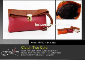 Clutch Murah Two Color Merah Marun