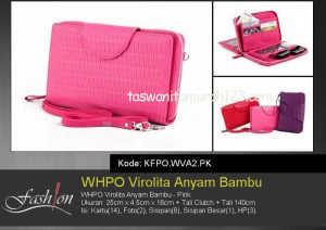 Tas Wanita Murah WHPO Virolita Anyam Bambu Pink