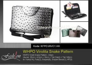 Tas Wanita Murah WHPO Virolit Snake Pattern Hitam