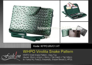 Tas Wanita Murah WHPO Virolit Snake Pattern Hijau Tua