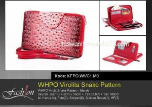 Tas Wanita Murah WHPO Virolit Snake Pattern Merah