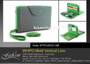 Tas Wanita Murah WHPO Motif Vertical Line Hijau