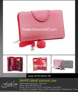 Tas Wanita Murah WHPO Motif Vertical Line Merah