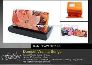 Dompet Wanita Murah Bunga Besar Orange