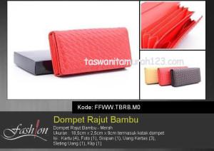 Dompet Wanita Murah Rajut Bambu Merah