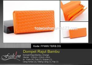 Dompet Wanita Murah Rajut Bambu Orange