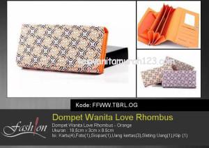 Dompet Wanita Murah Love Rhombus Orange
