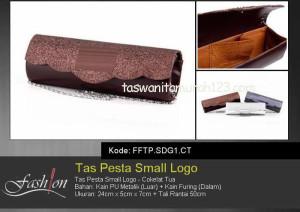 Tas Pesta Murah Small Logo Coklat Tua