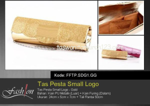 Tas Pesta Murah Small Logo Gold