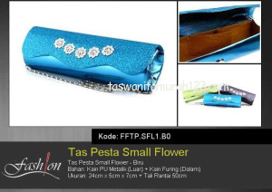 Tas Pesta Murah Small Flower Biru