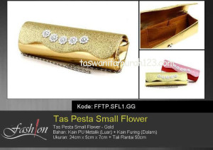 Tas Pesta Murah Small Flower Gold