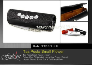 Tas Pesta Murah Small Flower Hitam