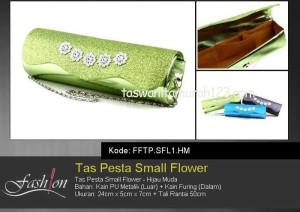 Tas Pesta Murah Small Flower Hijau Muda