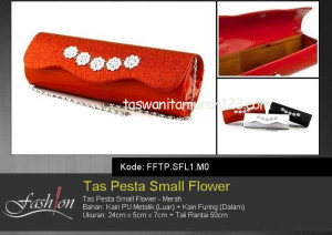 Tas Pesta Murah Small Flower Merah