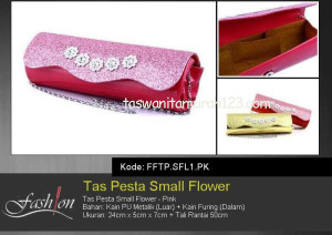Tas Pesta Murah Small Flower Pink