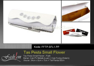 Tas Pesta Murah Small Flower Putih