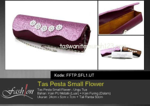 Tas Pesta Murah Small Flower Ungu