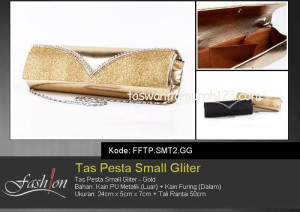 Tas Pesta Murah Small Gliter Gold