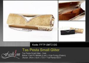 Tas Pesta Murah Small Gliter Gold