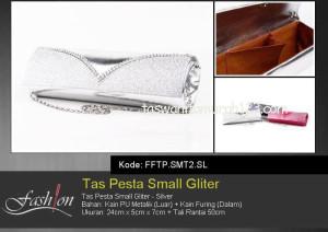 Tas Pesta Murah Small Gliter Silver