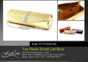 Tas Pesta Murah Small Circle List Bros Gold