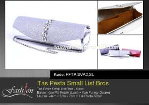 Tas Pesta Murah Small Circle List Bros Silver
