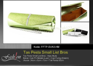 Tas Pesta Murah Small List Bros Hijau Muda